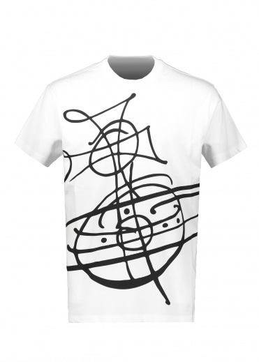 Vivienne Westwood Classic T-Shirt Grafitti Orb - White