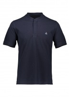 Vivienne Westwood Collarless Polo Shirt - Navy