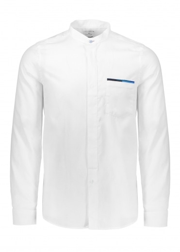 Paul Smith Collarless Shirt - White