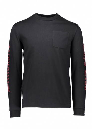 Billionaire Boys Club College LS Pocket T-Shirt - Black