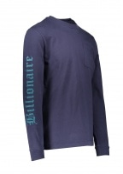 Billionaire Boys Club College LS Pocket T-Shirt - Navy