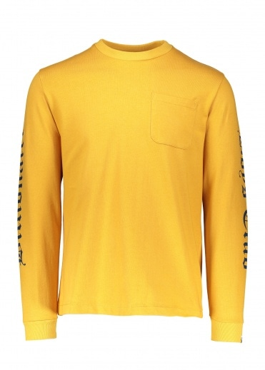 Billionaire Boys Club College LS Pocket T-Shirt - Yellow