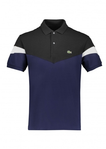 Lacoste Colorblock Polo - Navy / Black