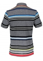 Colour Stripe Polo - Mouline Navy