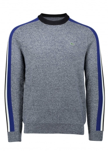 Lacoste Colourblock Stripe Sweater - Navy