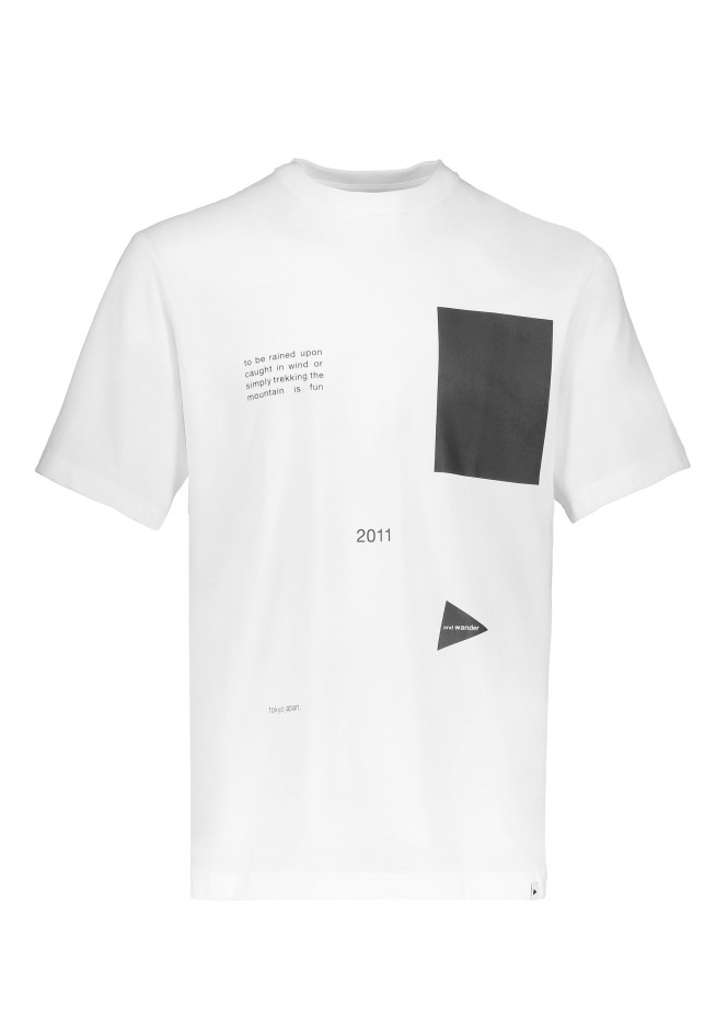 And Wander Composition Tee - White