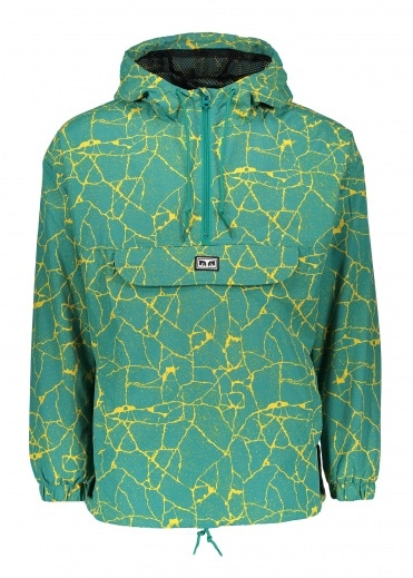 Obey Concrete Anorak - Cracked Blue Green