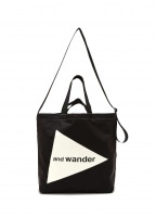 And Wander Cordura Logo Tote Bag - Black