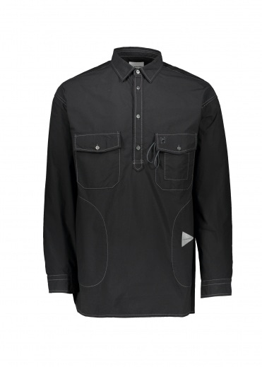And Wander  Cordura Typewriter Shirt - Black