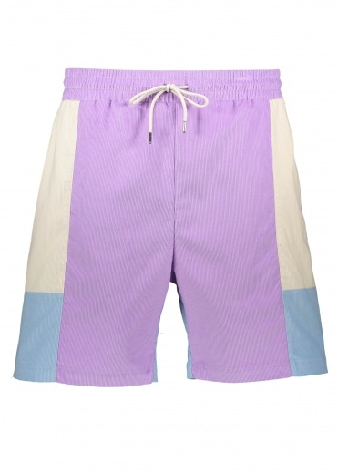 Drôle de Monsieur Corduroy Paneled Short - Purple