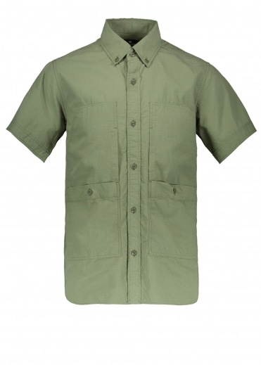 Snow Peak Cotton Rip Stop Shirt - Olive
