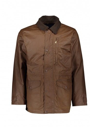 Filson Cover Cloth Mile Marker Coat - Dark Earth