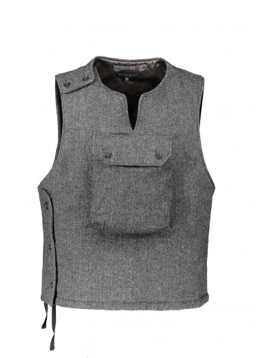 Engineered Garments Cover Vest - Herringbone Grey