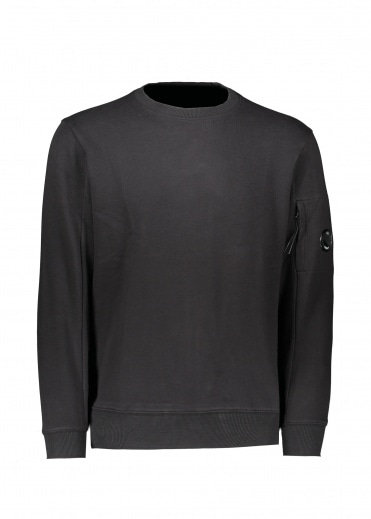 C.P. Company Crew Neck Lens Sweat - Black