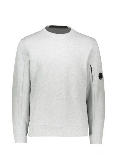 C.P. Company Crew Neck Lens Sweat - Grey Melange