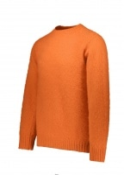 Shetland Woollen Co. Crew Neck Pullover - Pumpkin