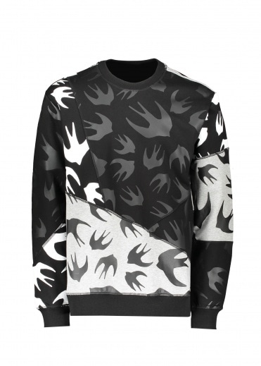 McQ by Alexander McQueen Cut Up Pullover - Black / Mercury