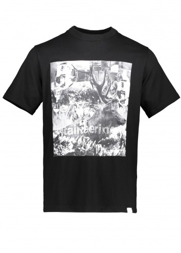 White Mountaineering  Deer Collage T-Shirt - Black