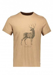 Fjallraven Deer Print T-Shirt - Dark Sand