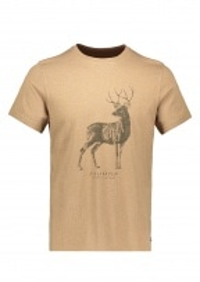 Deer Print T-Shirt - Dark Sand