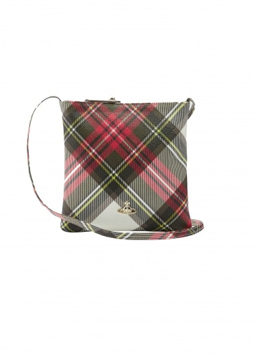Vivienne Westwood Accessories Derby Square Crossover Bag - New Expedition Tartan
