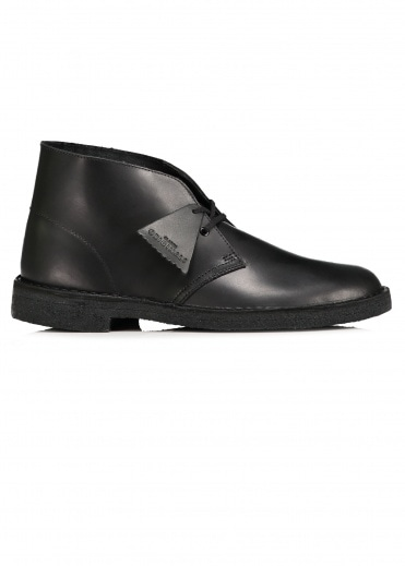 Clarks Originals Desert Boot - Black Polished