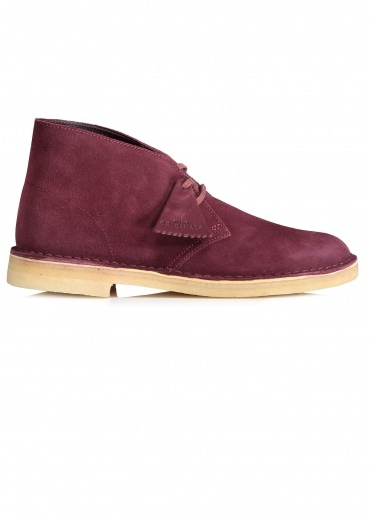 Clarks Originals Desert Boot Suede - Bordeaux