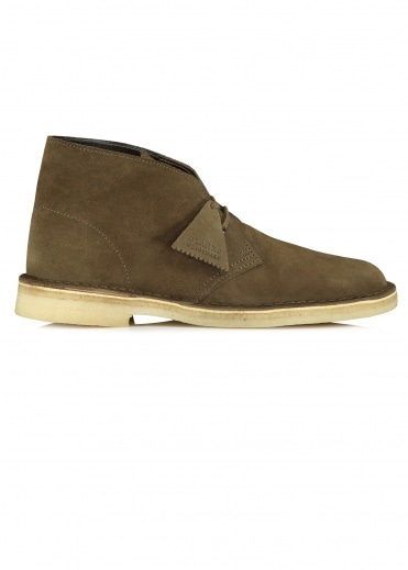 Clarks Originals Desert Boot Suede - Dark Olive