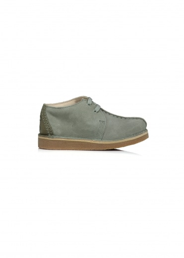 Clarks Originals Desert Trek Child - Olive Suede