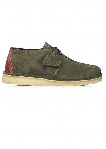 Clarks Originals Desert Trek Suede - Dark Green