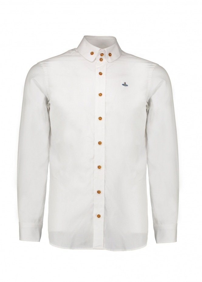 Double Button Shirt - White