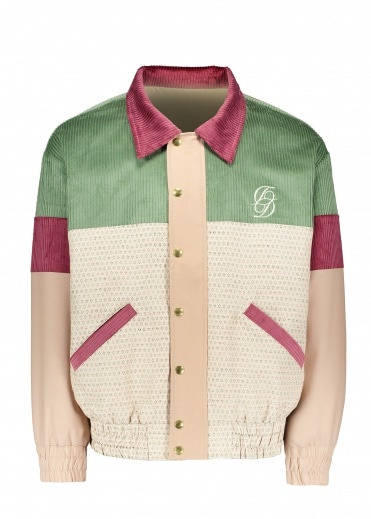 Drôle de Monsieur Double D Jacket - Green / Beige