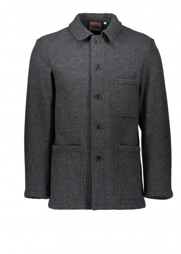 Vetra Double Face Wool Jacket - Anthracite
