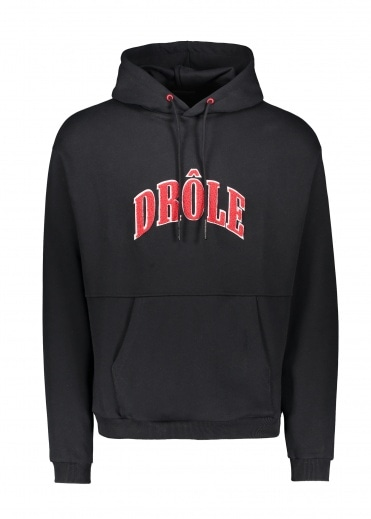 Drôle de Monsieur Drole Embroidered Hoodie - Black