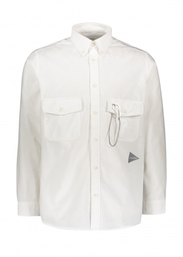 And Wander  Dry Ox Shirt - White