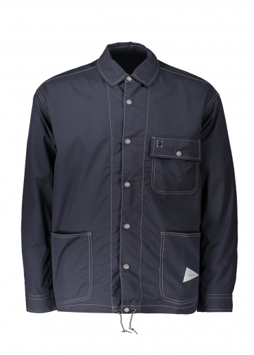 And Wander  Dry Rip Shirt Jacket - Navy
