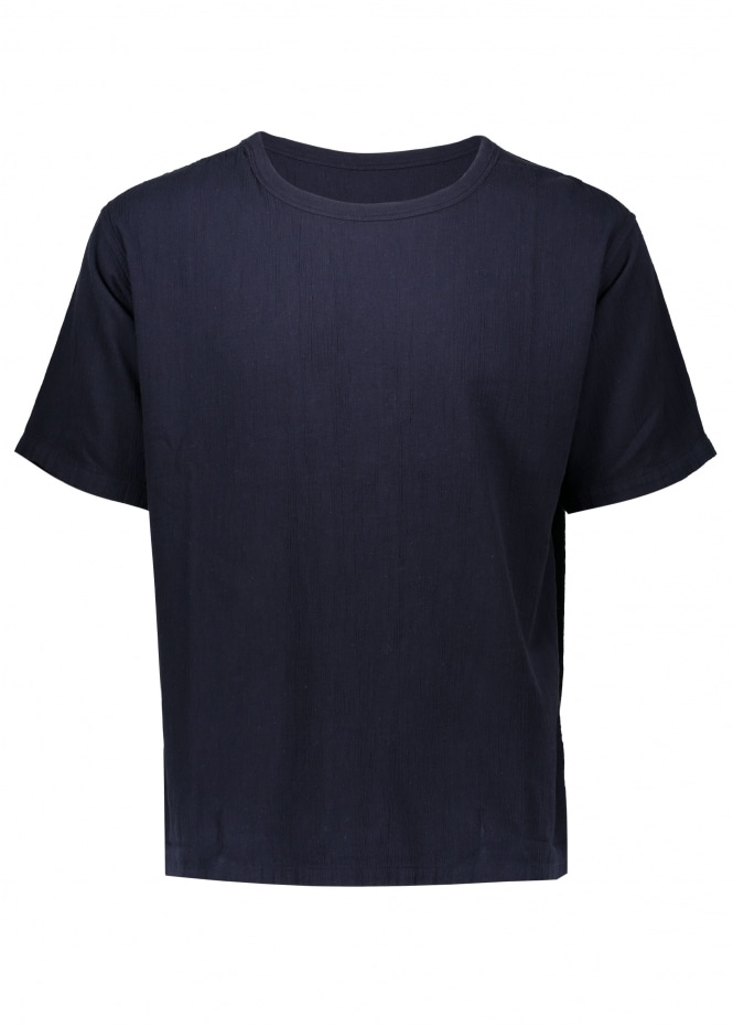Saturdays NYC Elliot Crepe SS Tee - Midnight