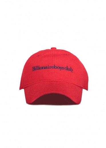 Billionaire Boys Club Embroidered Curved Cap - Red
