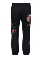Billionaire Boys Club Embroidered Floral Pant - Black