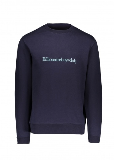 Billionaire Boys Club Embroidered Logo Crew - Navy