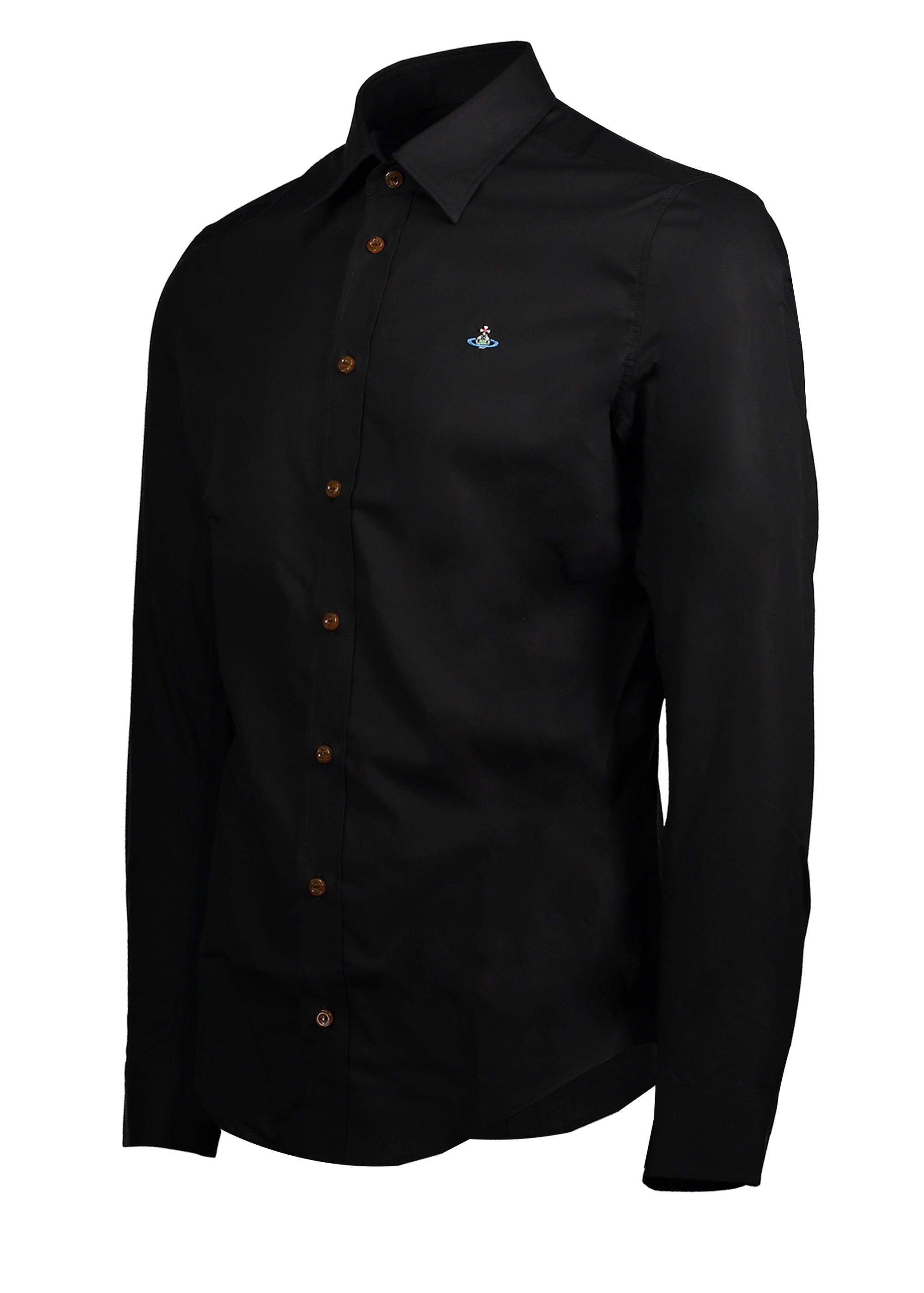 Embroidered logo shirt black from triads uk for Shirt with logo embroidered