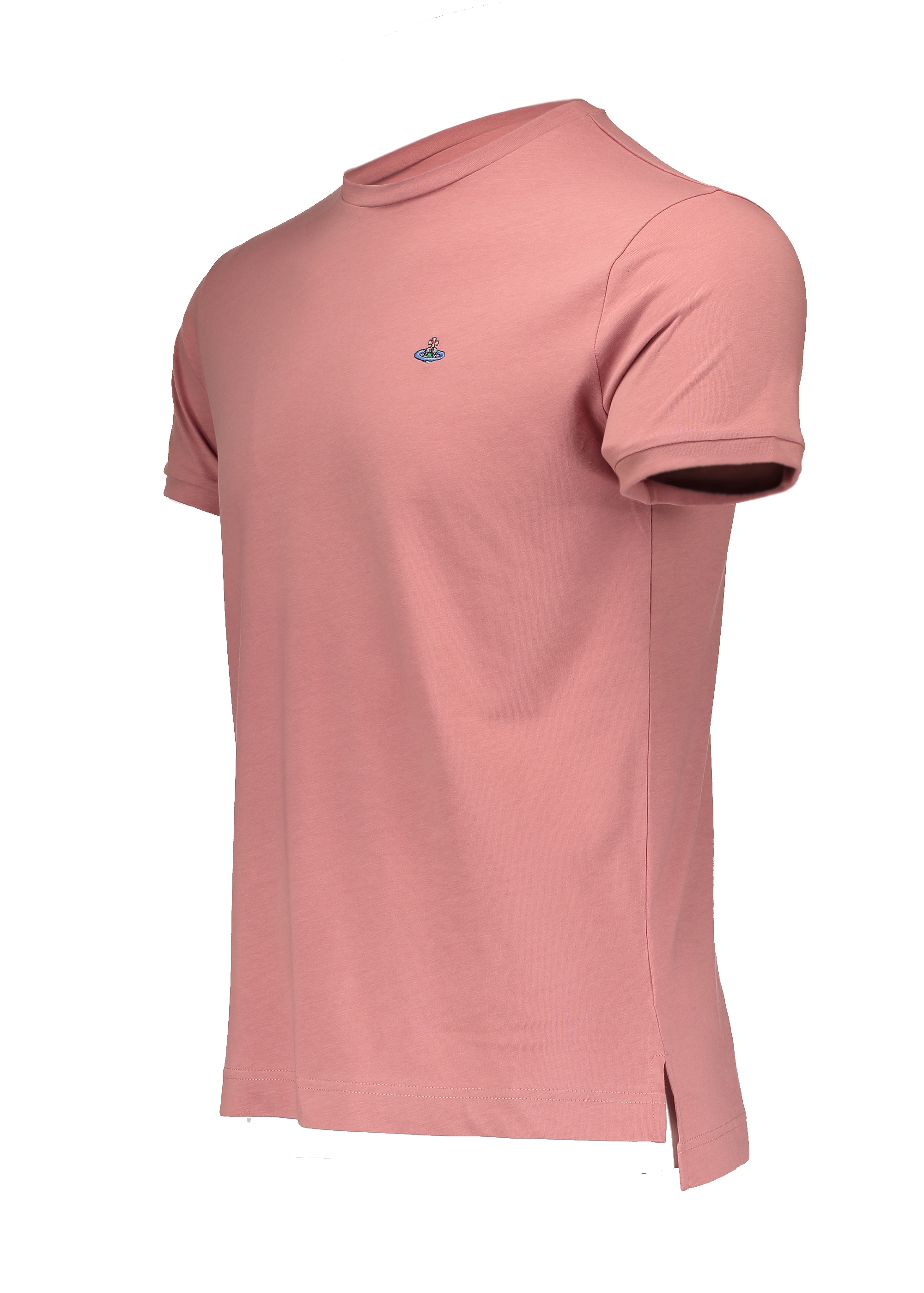 Embroidered logo t shirt pink from triads uk for Mens pink shirts uk