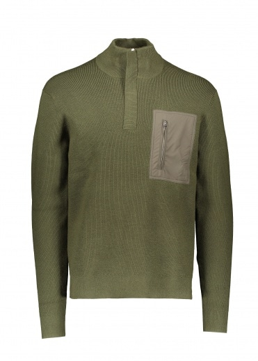 Norse Projects Fjord Tech Half Zip - Beech Green