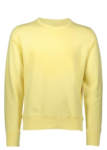 Hawksmill Denim Co Flatrock Crew Sweat - Yellow