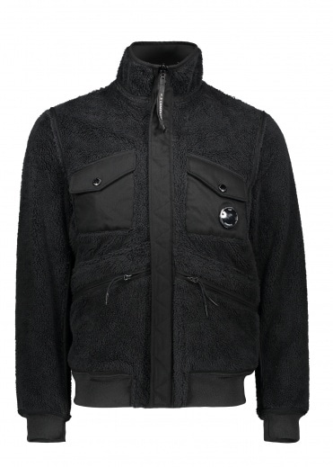 C.P. Company Fleece Zip Jacket - Black