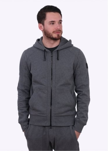 Belstaff Fleming Hooded Sweatshirt - Mid Grey