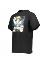 adidas Originals Apparel Flower Graphic Tee - Black