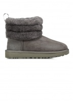 UGG Fluff Mini Quilted Boots - Charcoal