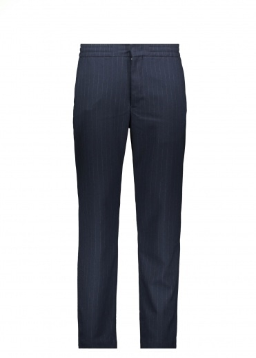 NN07 Foss Trousers - Navy Stripe