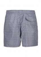 Geo Print Swim Shorts - Navy